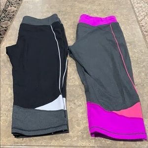 2 pairs of women's TeK Gearwork our capris NWOT